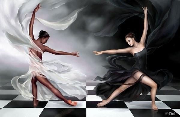 белое и черное