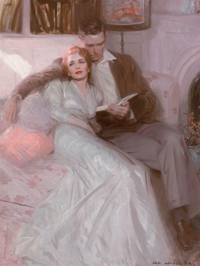 женщина и мужчина картина